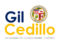 Logo Gil Cedillo - Los Angeles City Counsilmemmber at Festival Chapín