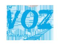 Logo La Voz del Inmigrante at Festival Chapín